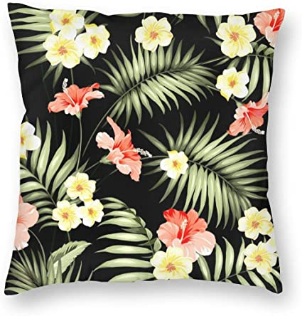 Luxury Throw Pillow Covers Hawaii Hawaiian Tropical Flowers And Jungle Palms Throw Pillow Cases Decorative Cushion Covers Pillowcases Soft Square Pillow Covers 18x18 Inch Amazon Co Uk Baby