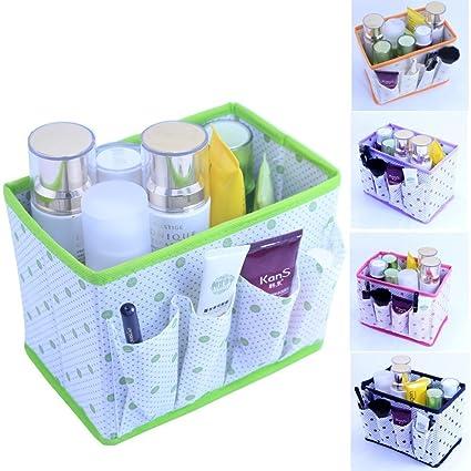 Generic Verde Plegable multifunción Maquillaje cosmético Caja de Almacenamiento Caja Contenedor Cajas de Almacenamiento Cubo Caso