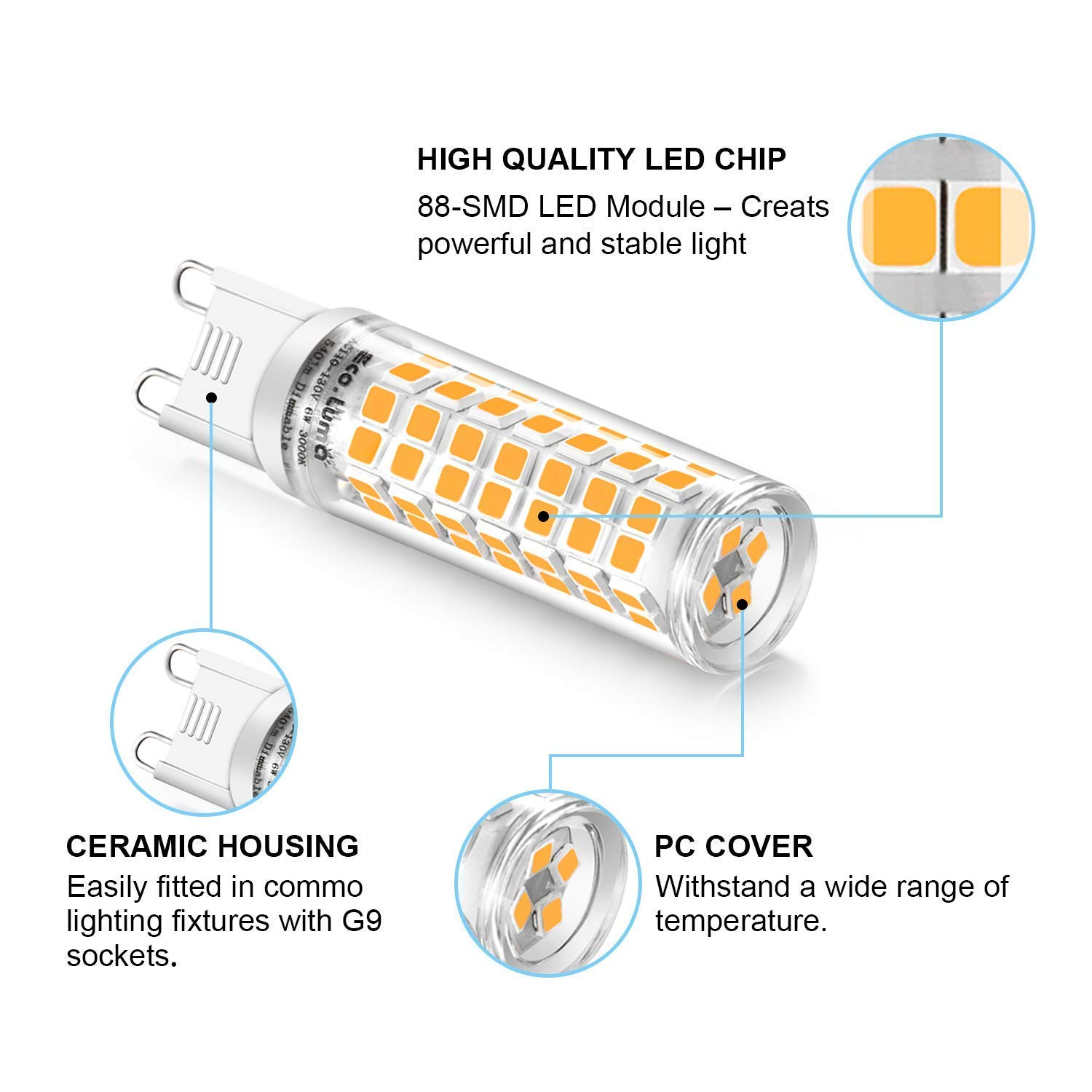 quality features G9 LED replacement lamp