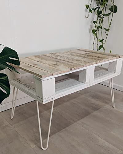 Tables Reclaimed Wood Pallet Coffee Table With Storage Farmhouse Style Hairpin Legs Home Furniture Diy Mod Ng