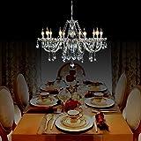 Dst Marie Therese 10-bras en verre transparent cristal Droplets Pendant Lamp Light Chandelier Diam¨¨tre 80cm cha?ne Hauteur 60cm 60cm