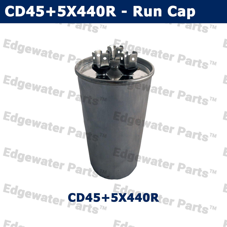 45 5 Mfd 440v 440 Volt 50 60 Hz Round Motor Capacitor For Goodman Rheem Furnace Blower Wiring Diagram Trane Amana Carrier Industrial Scientific