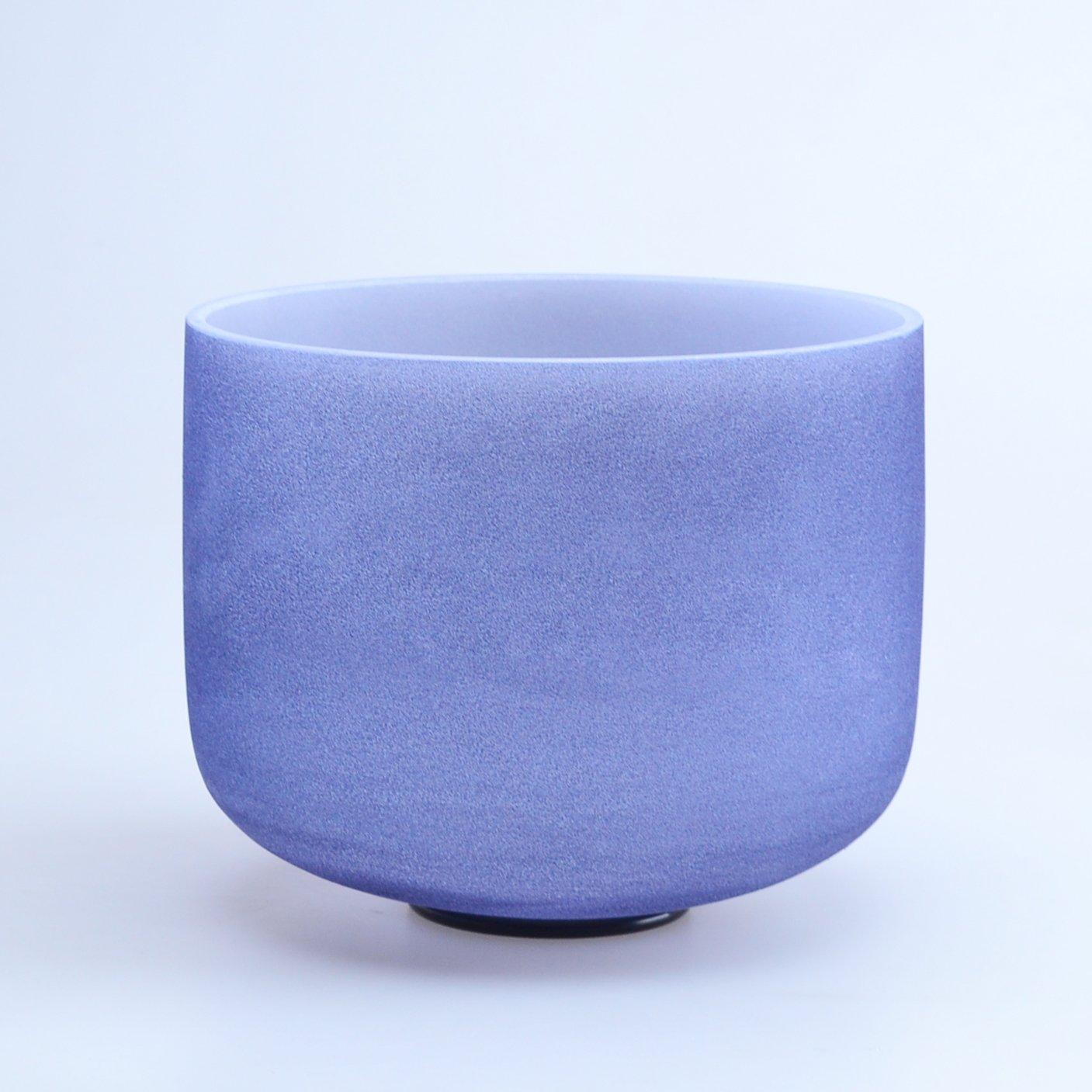 440HZ 8'' A Third Eye Navy Blue Chakra Quartz Crystal Singing Bowl Indigo by Donghai Quartz