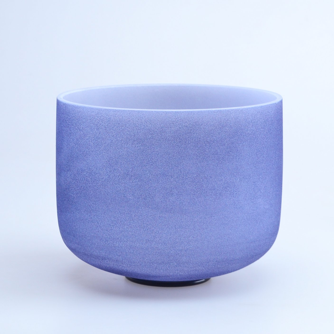 440HZ 8'' A Third Eye Navy Blue Chakra Quartz Crystal Singing Bowl Indigo