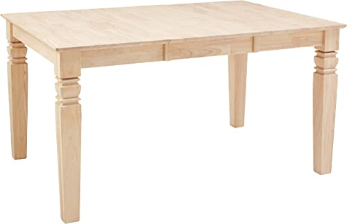 International Concepts Java Butterfly Leaf Dining Table, Unfinished