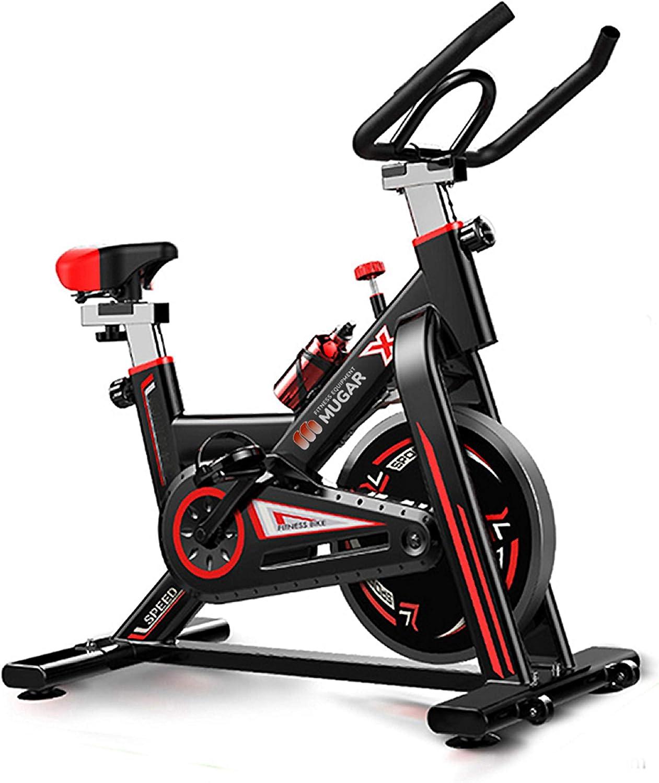 Mugar Bicicleta Estática Spinning MG-400, Bicicleta de Spinning Pantalla LCD, Resistencia Variable. Regulable. Silenciosa. Peso máximo 150 kgs