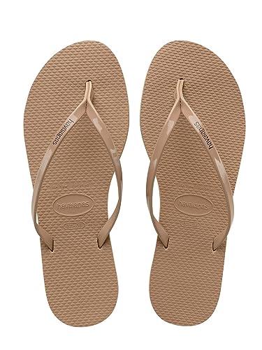 5714c5a9a Havaianas Womens You Metallic Flip Flop Sandal Rose Gold Size 35-36 BR   6
