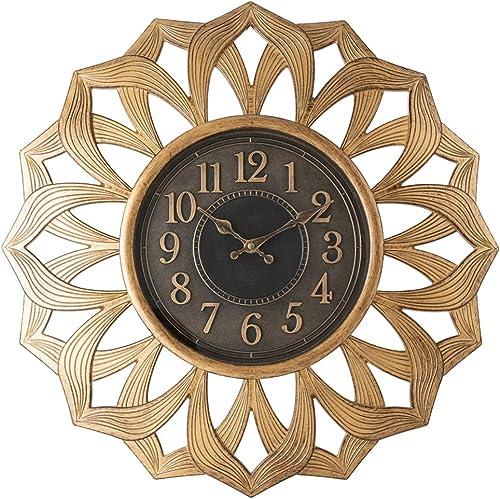 Pacific Bay Alsfeld Large Decorative Light-Weight Non-Metallic 20-inch Wall Clock Silent