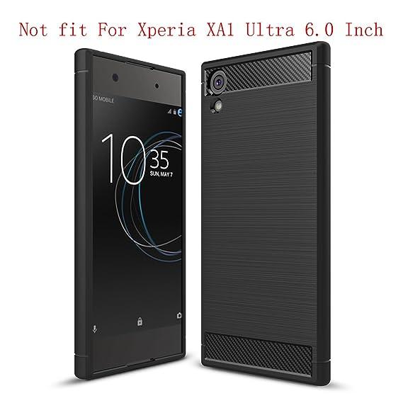 new arrival 79476 791e7 Sony Xperia XA1 Case, Sony Xperia Z6 Case, (Not for Sony Xperia XA1 Ultra 6  Inch) Suensan TPU Shock Absorption Technology Raised Bezels Protective ...