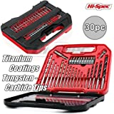 """Hi-Spec 16 Piece Hole Saw Drill Bit Kit Set, 3/4"""" to 5"""", for Cutting Access Holes & Discs in Wood, Plastics, Drywall & Sheet Metal for Woodworking, Carpentry, Decorating & Home DIY In Storage Case"""