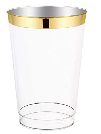 """/"""" OCCASIONS/"""" 100 pcs Wedding Party Disposable Plastic tumblers Cups 14 Oz Clear"""