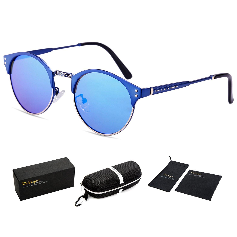 Dollger - Gafas de sol - para mujer azul Blue Mirror Lens+ ...