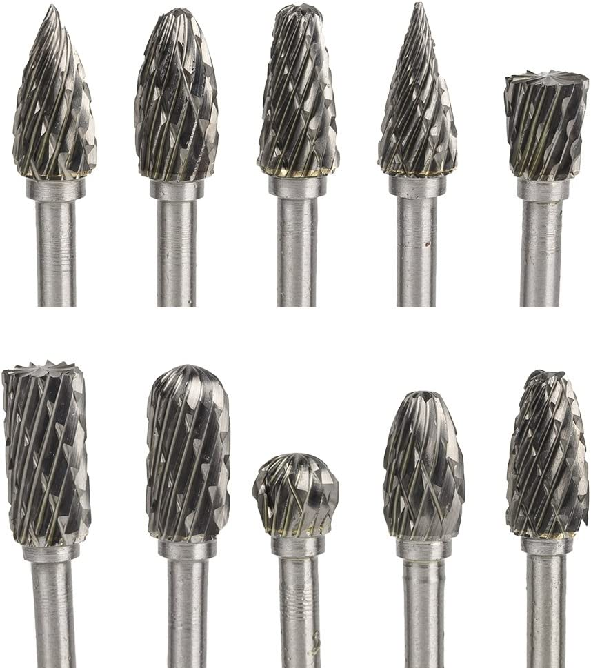 Eagles Tungsten carbide rotary files set,10pcs Dremel rotary accessories 1/8