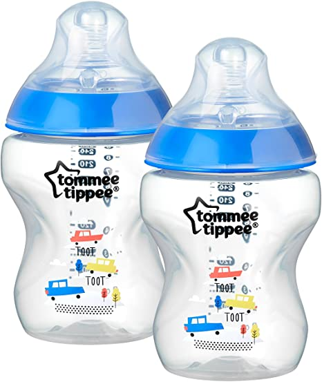 Tommee Tippee Closer to Nature 42241272 - Biberón anticólico, 260 ml, pack de 2 unidades, color azul: Amazon.es: Bebé