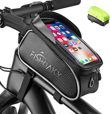 CATEYE Cycling Bicycle Frame Bag Waterproof Bag EVA Fabric Side Bag Black