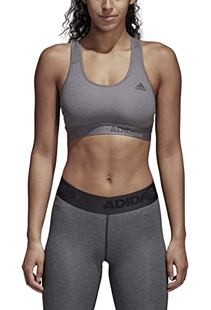 adidas Alphaskin Sport 3 Stripes Print Bra - , Women