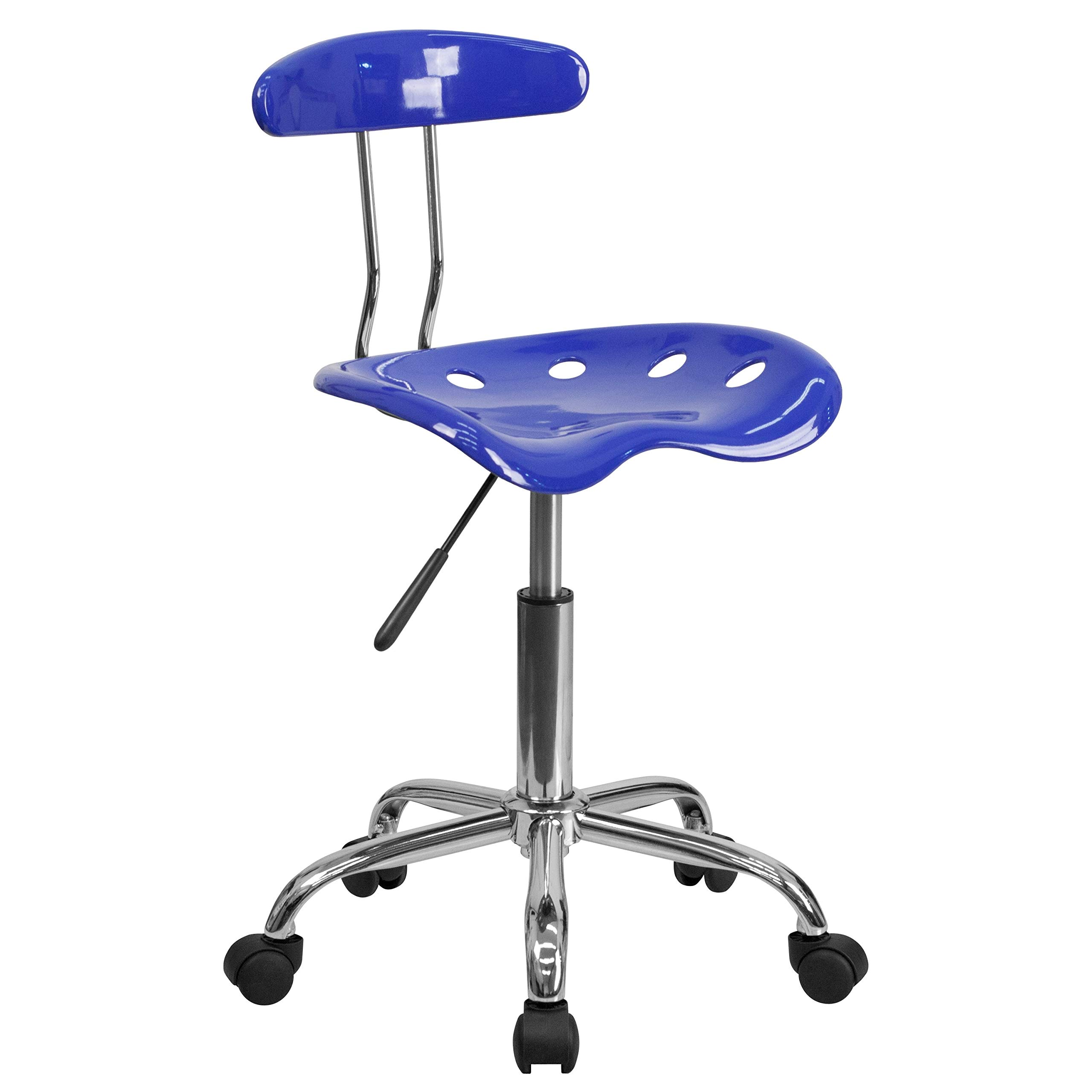 A Line Funiture Saddle Nuatical Blue Home Office Chair with Tractor Seat