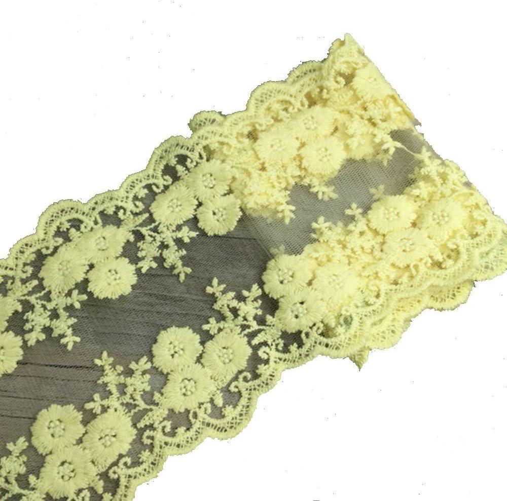 Yalulu 5 Yards Vintage Style Lace Trim Ribbon Bridal Sewing Flowers Gifts Invitations Cards Craft Black