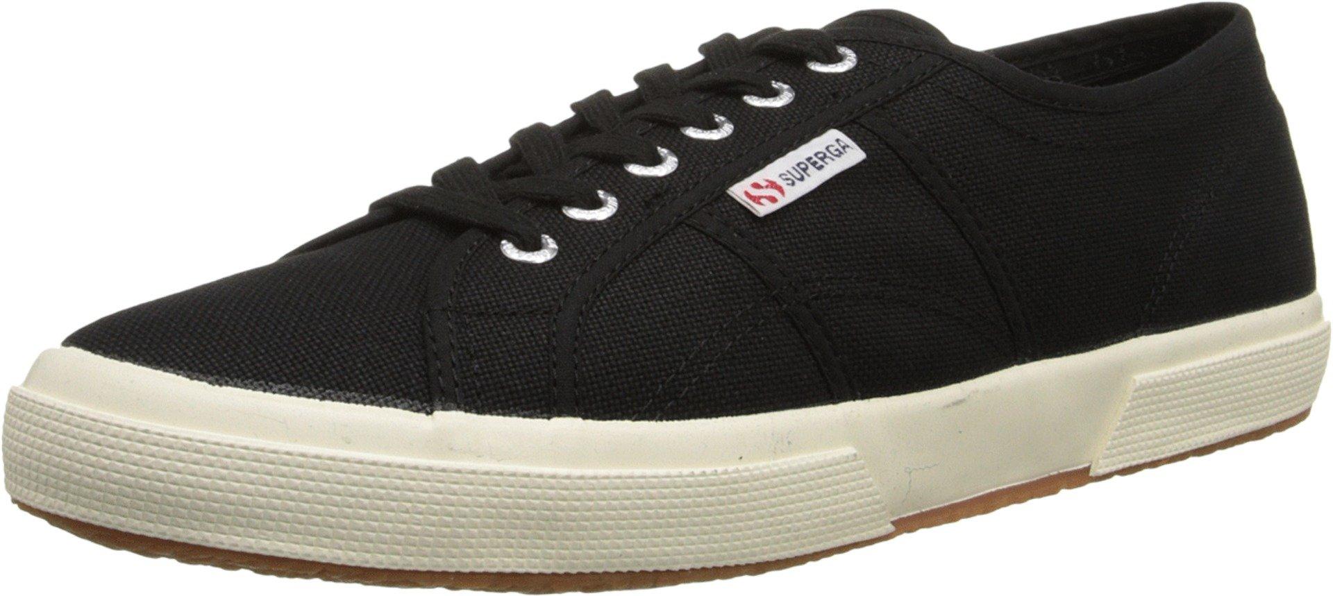 Superga Unisex 2750 Cotu  Black Classic Sneaker - 36 M EU / 6 B(M) US Women / 4.5 D(M) US Men
