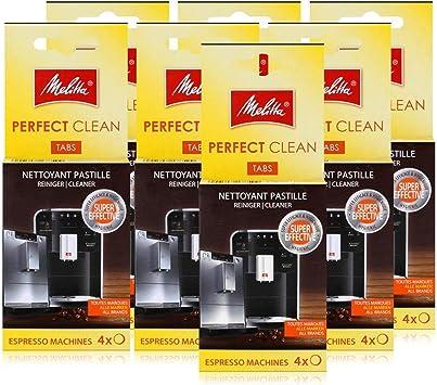 Melitta Perfect Clean - Pastillas de limpieza para cafeteras espresso (4 x 1,8 g (7 unidades): Amazon.es: Salud y cuidado personal