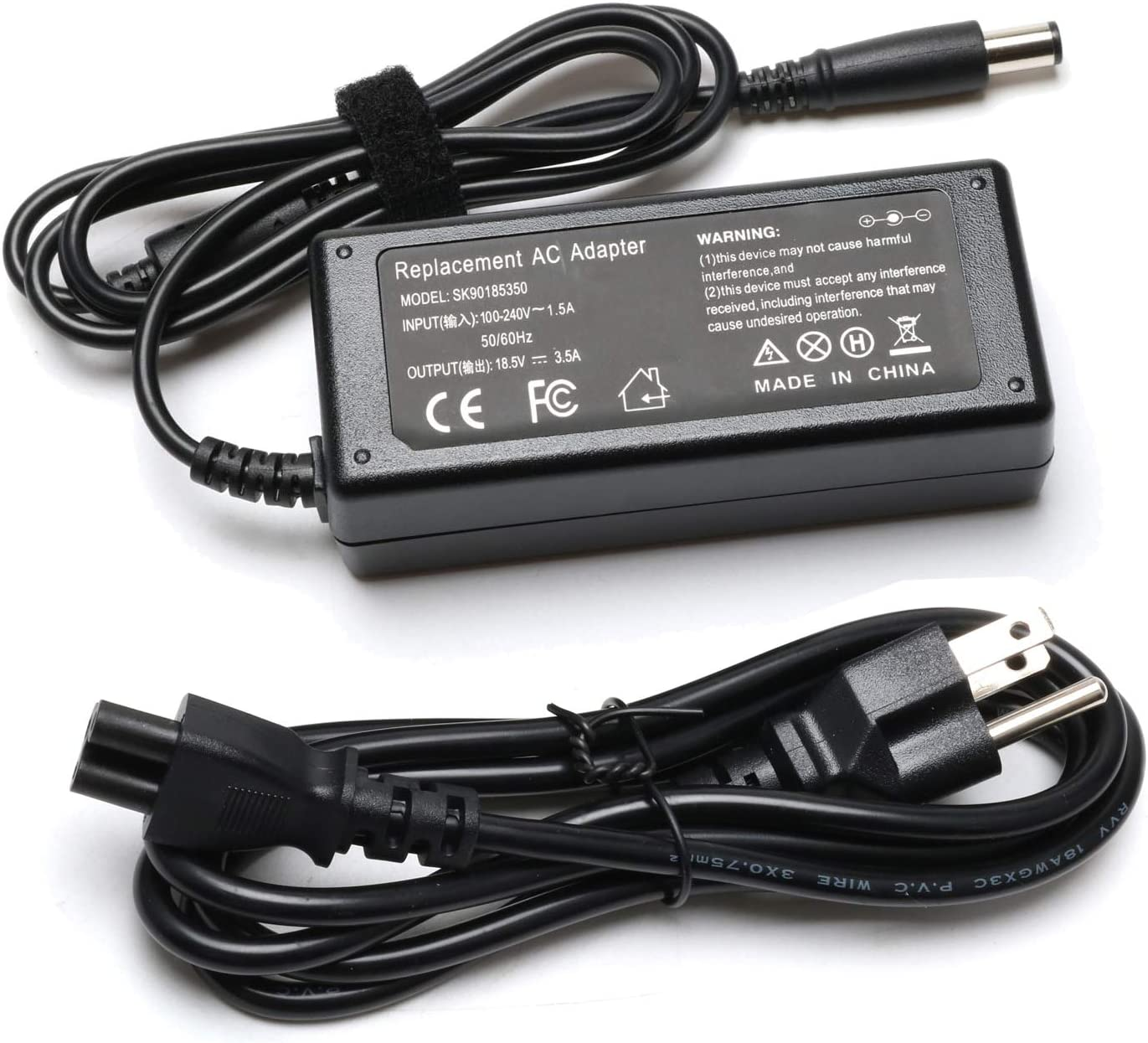 65W AC Adapter Laptop Charger for HP 608425-002 G42 G50 G56 G60 G61 G62 G70 G71 G72 Notebook Charger 2000-2D49WM G60-235dx G60-535dx G61-511wm G62-435dx G62-355dx G70-460us G71-340us Power Supply Cord