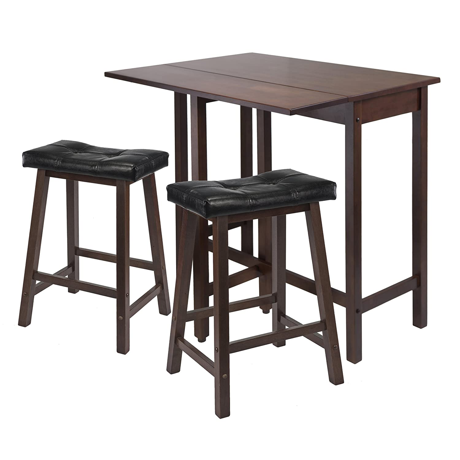 Amazoncom Winsome Lynnwood Drop Leaf Kitchen Table with 2