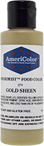 Americolor Amerimist Edible Paint and Airbrush Food Color, 4 1/2-Ounce, Gold Sheen