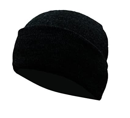 6cc37d4d2990c Gajraj Unisex Woolen Skull Cap - Black  Amazon.in  Clothing   Accessories