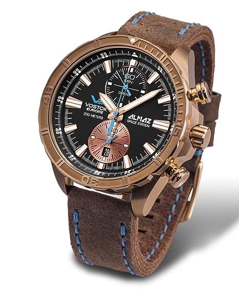Vostok reloj para hombre modelo Almaz negro y azul-6S 11-320O266