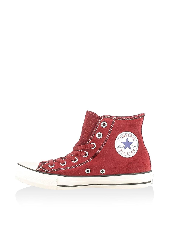 Converse All Star Hi Suede - Zapatillas Unisex Adulto 36 EU|Rojo