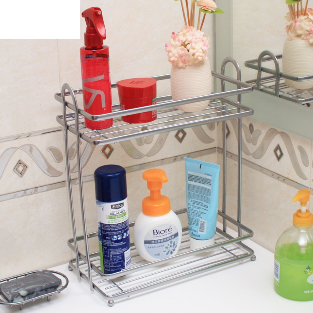 Bathroom corner rack/wash your hands more than two layers/Bathroom wall rack/kitchen corner shelf-B 80%OFF