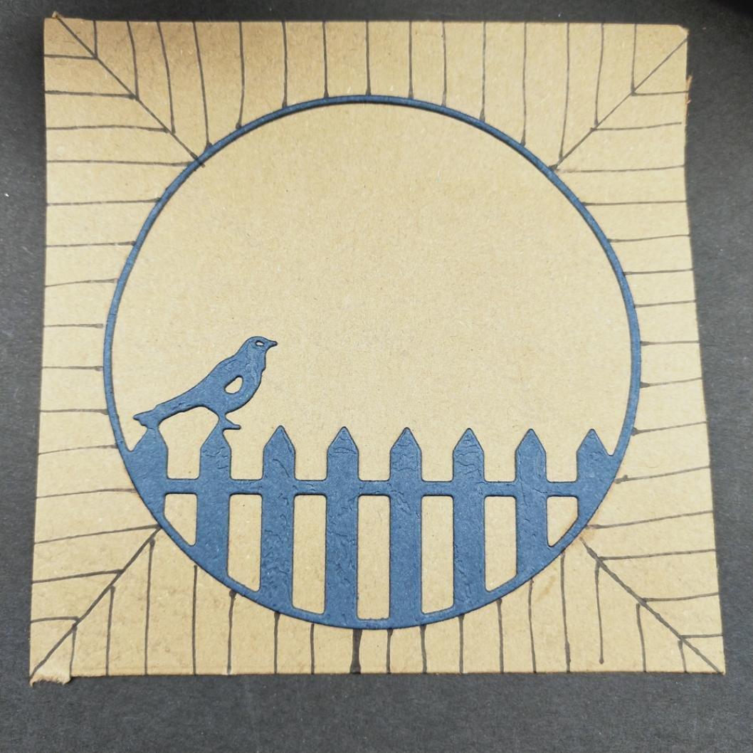 callm Bird Fence Metal Cutting Dies Embossing Card Making Die Cuts Scrapbooking Dies Stencil Metal Cut For Card Album Decoration Paper Card Making (H) by callm (Image #3)