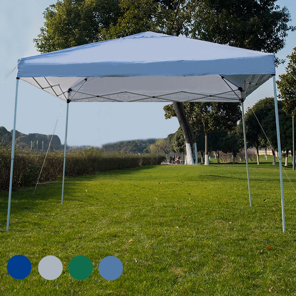 Sundale Outdoor 10 x 10 FT Heavy Duty Pop Up Canopy Waterproof UV-Protected Gazebo Portable Instant Shade Folding Shelter Patio Wedding Party Tent with Wheeled Carrying Bag, White