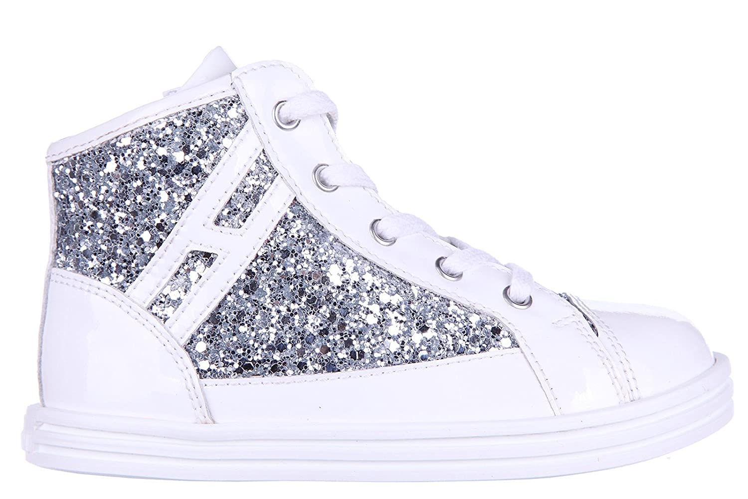separation shoes d6c49 42299 Hogan Rebel Girls Shoes Baby Child high top Leather Sneakers ...