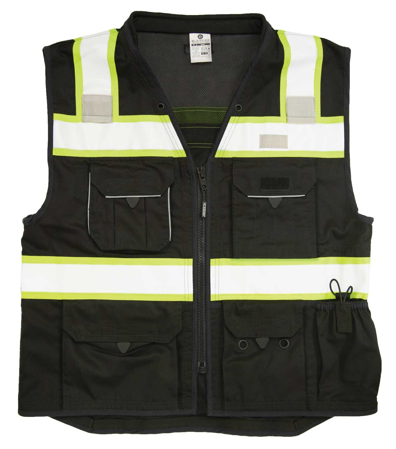 ML Kishigo - Black Heavy Duty Safety Vest Size: Medium
