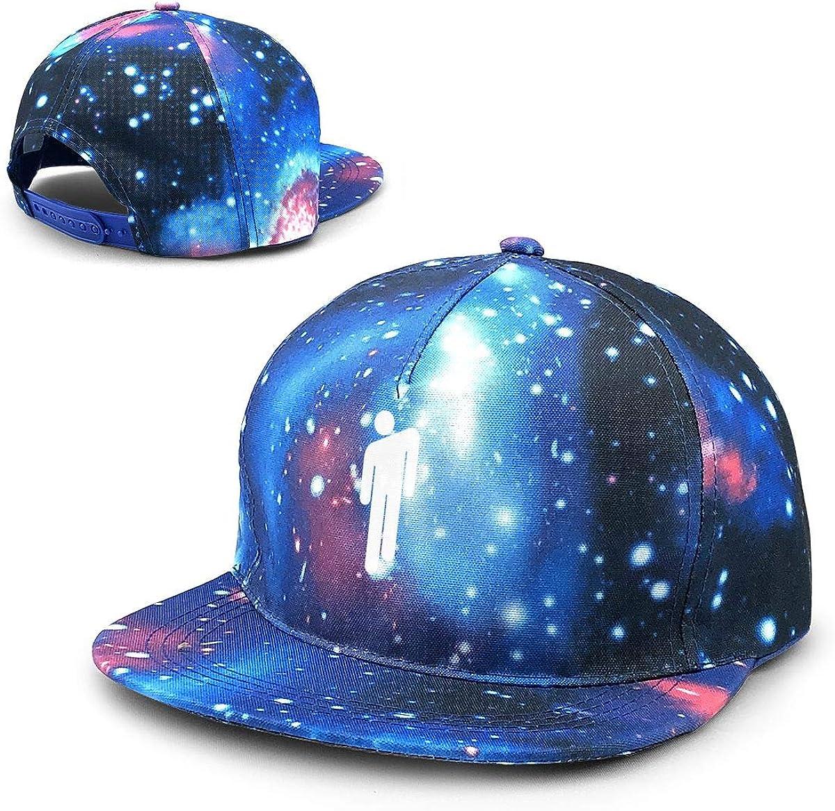 Myzly Billie Eilish Merch Kids Star Hat Baseball Cap Classic Fashion Contrast Hip Hop Baseball Cap Blue