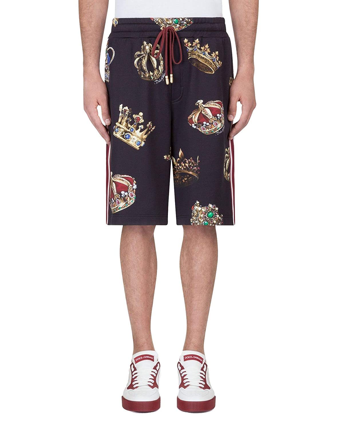 half off 7d5bc 7137e Dolce e Gabbana Men's Gy2jatfs74dhnv93 Black Cotton Shorts ...