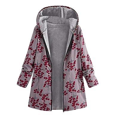 Lilicat Winter Outwear Warm Imprimé Floral Pochettes À Womens LSjpqUzMGV