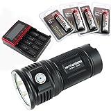 ThruNite Mini TN30 3660 Lumen 4x18650 batteria Cree LED portatile e compatta torcia …