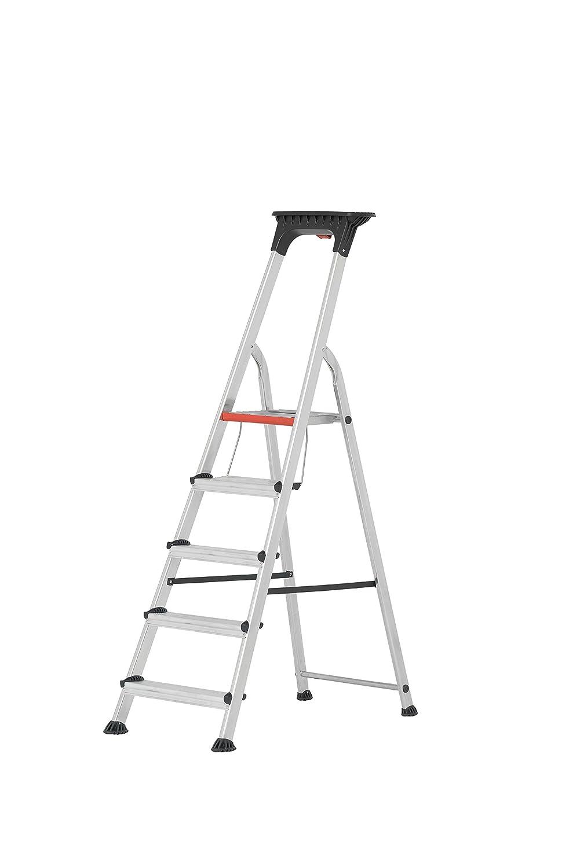 5 Stufen HYMER ALU-PRO 7102605 Stufenstehleiter mit Doppelstufe