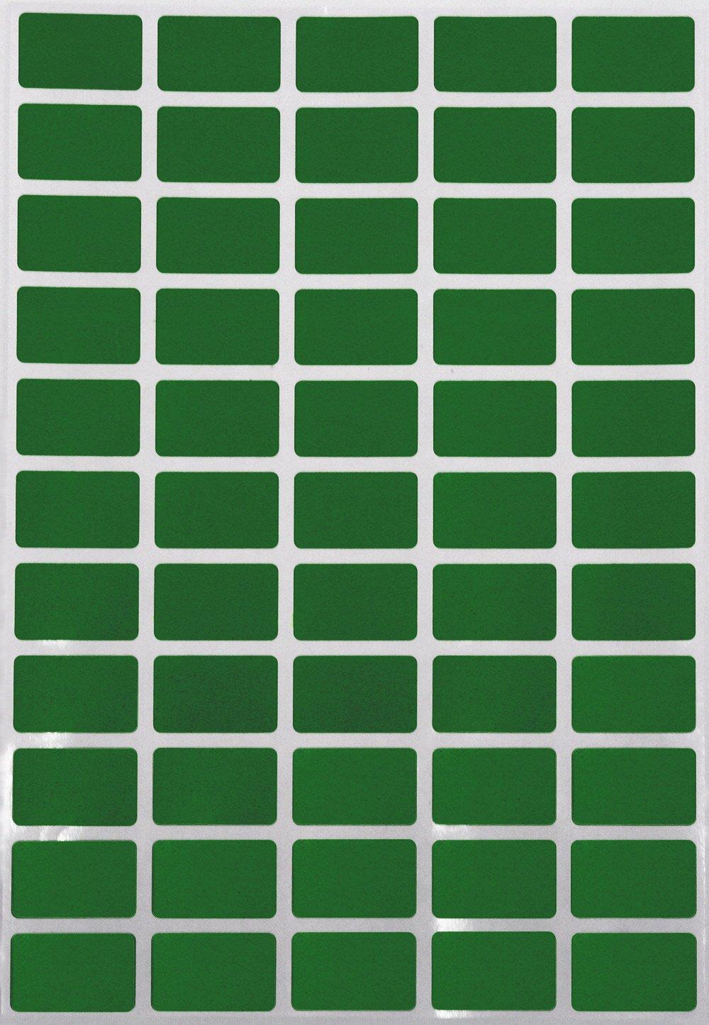 Gr/ö/ße 2,5cm x 1,6cm viereckige Etiketten von Royal Green /… Aufkleber 25mm x 16mm rechteckige Sticker Rot, 550