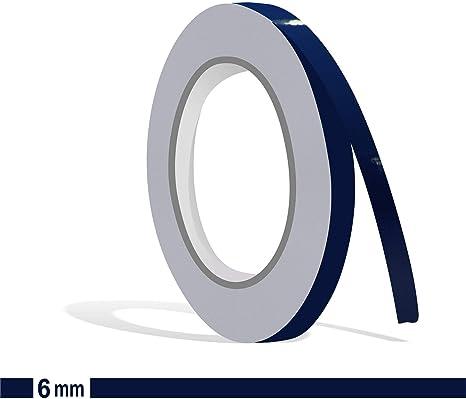 Siviwonder Matt stahlblau Marine Zierstreifen Aufkleber Breite 20mm L/änge 10m f/ür Auto Boot Klebeband blau 2cm