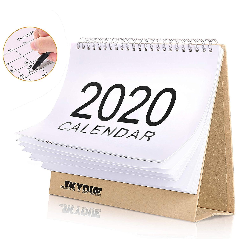 "Skydue Standing Desk Calendar 2019-2020, Month Desk Calendar 8"" x 7"", Desk Stand Up Calendar Runs from Sep 2019 Through Dec 2020"