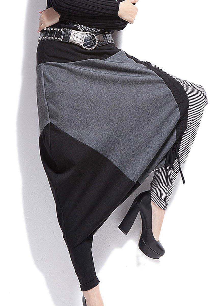 Black AUBIG Ladies Baggy Harem Pants Sweatpants Trousers Hip Hop Dance Skirts Womens
