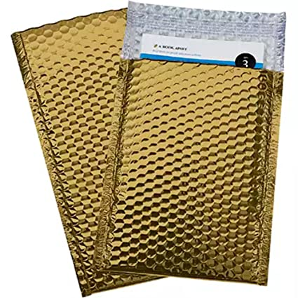 Bubble Mailers 6x9 Padded Envelopes 6 X 9 By Amiff Exterior Size 6 5 X 10 6 1 2 X 10 Pack Of 20 Gold Cushion Envelopes Peel Seal Glamour