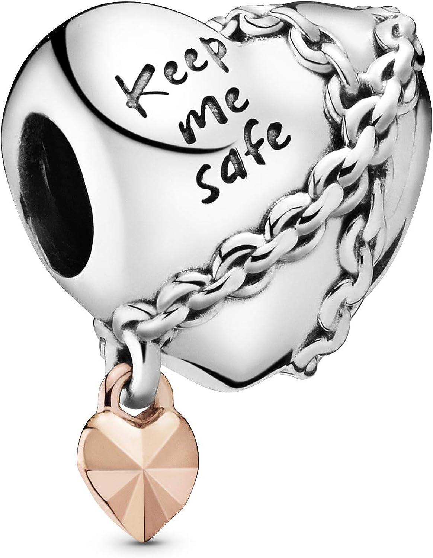 Amazon Com Pandora Jewelry Chained Heart Pandora Rose Charm Jewelry