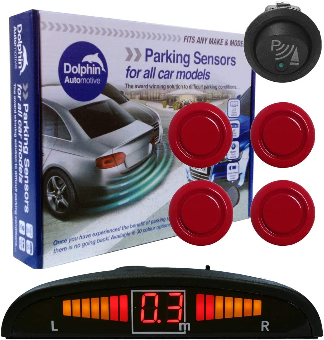 Auto Express Award Winning Brand In 9 Colours Red Dolphin DMS450 Micro Size Reverse Parking Sensors