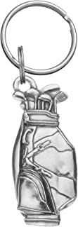 product image for DANFORTH - Golf Bag Keyring - Pewter - 2 inches - Key Fob - Handcrafted - Made in USA