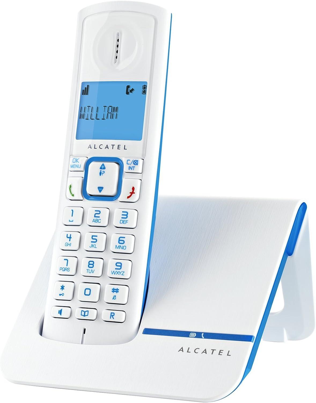Alcatel Versatis F230 - Teléfono fijo inalámbrico color blaco y azul: Amazon.es: Electrónica
