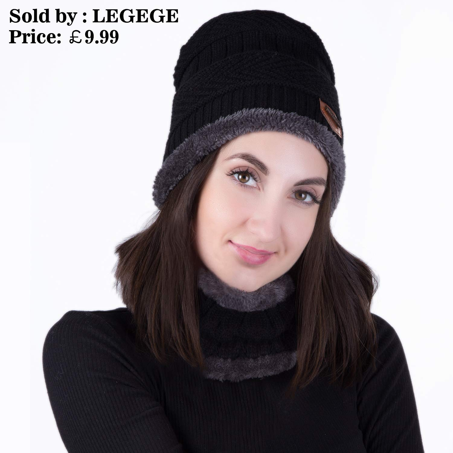 209470bbb2a Habikox Unisex Winter Beanie Hat Scarf Set Warm Knitted Hat and Circle  Scarf Set Outdoors Scarf Beanie Skiing Hat for Men and Women Choose Seller  Name ...